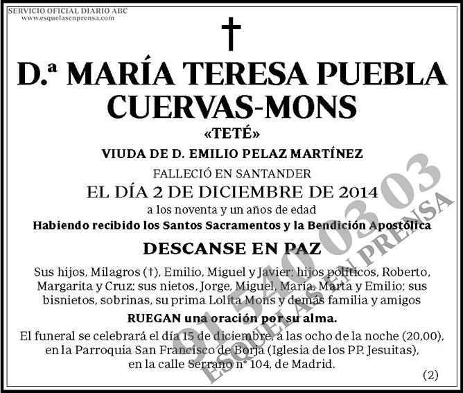 María Teresa Puebla Cuervas-Mons